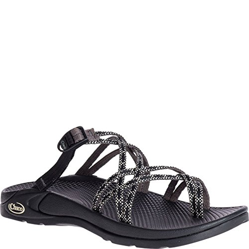 Chaco Women's ZONG X Ecotread Sport Sandal, Fizz Black, 8 Medium US