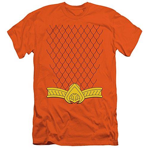 Justice League DC Comics New Aqua Costume Adult T-Shirt Tee (Martian Manhunter Costume)
