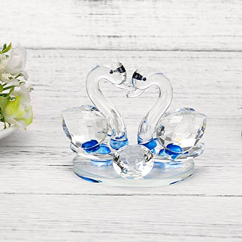 - NIHAI Crystal Swan Wedding Decor, Figurine Gift Crafts Home Decoration Ornaments, Romantic Wedding Gifts, Best Gift for Your Good Friend, 60mmx80mm (B)