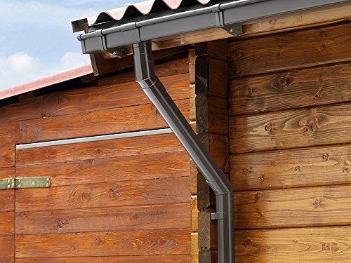 Dachrinne Regenrinne 45/° INEFA Rohrbogen DN 50 Dunkelbraun Kunststoff