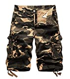 Best Mens Cargo Shorts - AOYOG Mens Camo Cargo Shorts Relaxed Fit Multi-Pocket Review