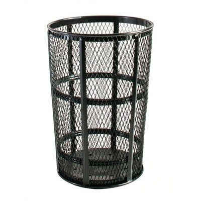 Rubbermaid Commercial FGSBR52GRN Steel Street Basket, 45 Gallon Capacity, Green