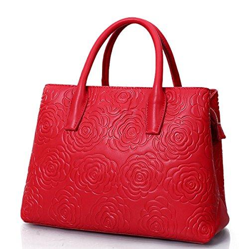Ladies Wallet Casual Rosered Bag Shoulder Gshga Leather Women's rosecherryblossompowder Package Diagonal Handbag Bag Fashion ptcXSR