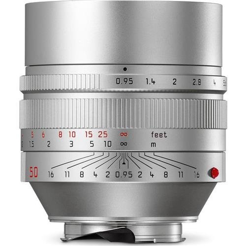Leica 11667 Noctilux-M 50mm/f0 95 ASPH Normal Lens Silver