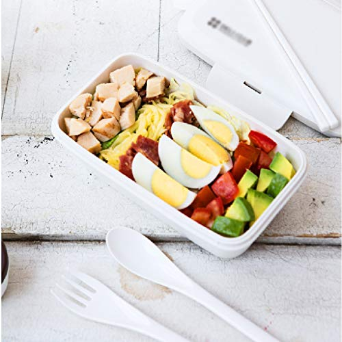 Kids Lunch Boxes Lunch Box Office Worker Lunch Box Can Be Microwave Oven Heating Plastic Single Layer Compartment Lunch Box Bento Boxes (Color : White, Size : 610ml)
