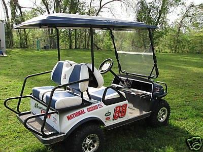 Dale Earnhardt Jr National Guard, Mtn Dew Golf Cart Decal Kit Dale Earnhardt Jr Guard
