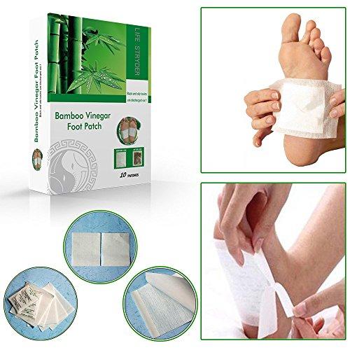 Life Stryder 100% Natural Herbal Detox Foot Pads with Premium Adhesive Sheets (10ct). Aid Premium Adhesive