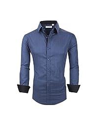 Alex Vando Mens Printed Dress Shirts Regular Fit Casual Button Down Shirt
