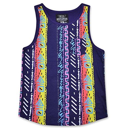 Broken Threads Men's Sleeveless Crewneck Fashion Geometric Abstract Tank Top T-Shirt Multi Large