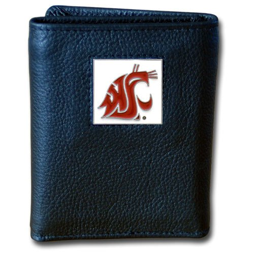 Siskiyou NCAA Washington State Cougars Deluxe Leather Tri-fold ()