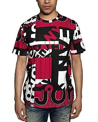 Sean John Mens Racing Max Graphic T-Shirt
