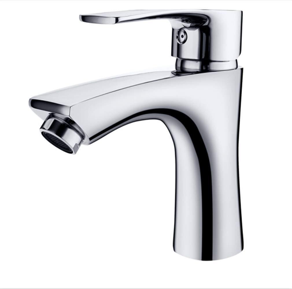 Küchenarmatur Wasserhahn Moderne Küche Spüle Wasserhahn Edelstahl Wasserhahn Einlochkupfer Warmes und Kaltwasser Düse Handwaschbecken Wasserhahn
