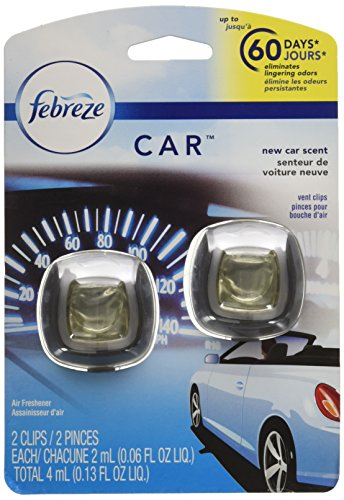 Febreze Air Freshener, Car Vent Clip Air Freshener, New Car Air Freshener, 2 ()