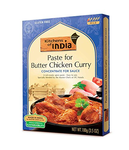 Kitchens of India Paste, Butter Chicken Curry, 3.5-Ounces (Pack of 6)