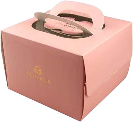Amazing Set Of 2 Beautiful Square Cake Boxes Birthday Cake Boxes Paper Box Funny Birthday Cards Online Inifofree Goldxyz