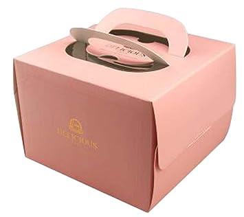 Alien Storehouse Conjunto de 2 Hermosa Plaza Pastel de Cajas de Torta de cumpleaños Cajas de Papel Caja de Color Rosa: Amazon.es: Hogar