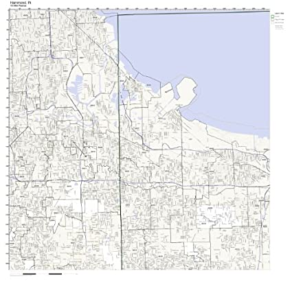 Hammond Indiana Zip Code Map.Amazon Com Hammond In Zip Code Map Not Laminated Home Kitchen