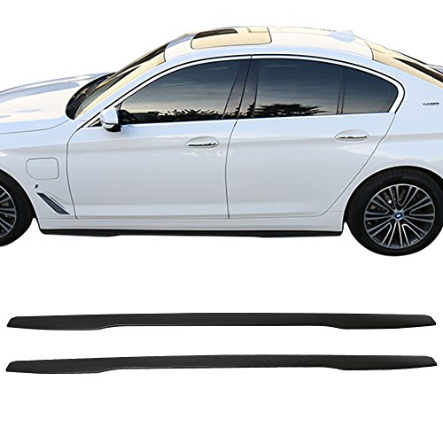 Side Skirts Fits Universal Vehicles | IKON V3 Black PP 85.5 Inch Sideskirt Rocker Moulding Air Dam Chin Diffuser Bumper Lip Splitter by IKON ()