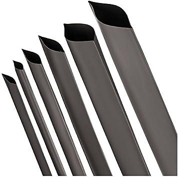 Durchmesser und L/ängen von ISOLATECH Hier Schrumpfschlauch 4:1 mit Kleber schwarz vers 4mm-4m