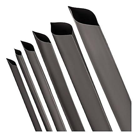 ISO-PROFI® Tubo Retráctil de rango 2: 1 negro Selección de 10 diámetro y 6 longitudes (en este caso: Ø 40mm - Longitud: 1m)
