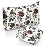 Tribeca Living Rainforest Printed Deep Pocket Flannel Sheet Set with Pillowcase, Queen