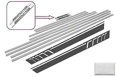 Kitt stickerw463dg añadir en tiras de puerta molduras adhesivo adhesivos plata: Amazon.es: Coche y moto