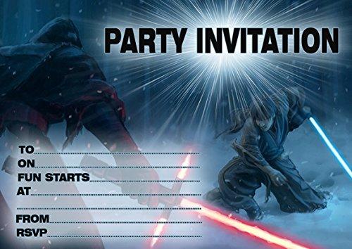 Star Wars 10 x biglietti d'invito per feste di compleanno: Amazon