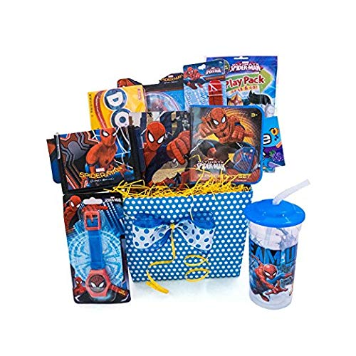 Gift Baskets For Kids Spiderman Fun & Games Accessory Toys, Playing Card]()