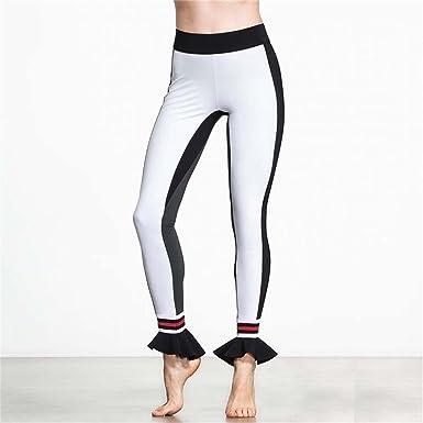 Amazon.com: ZH – cintura alta YOGA Leggings, seda de leche ...