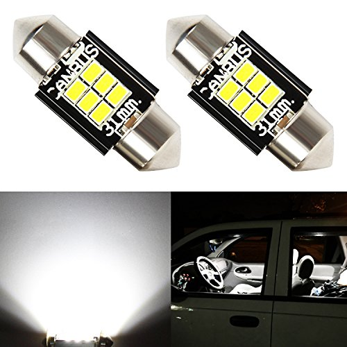 JDM ASTAR Extremely Bright Canbus Error Free GX-3020 Chipsets 1.25 inches 31mm DE3175 DE3021 DE3022 3175 LED Bulbs,Xenon White ()