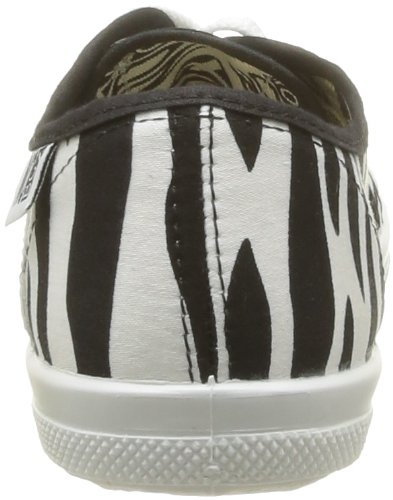 Deporte No Box mujer de Zebra tela Zapatillas Noir de negro Bahia PqZwqrI