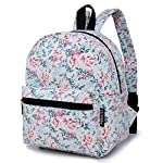 """Lily & Drew Lightweight Travel Backpack for Women and Teens 13 MEDIUM size 15-inch backpack. Please note there are two sizes: small and medium. This medium-sized backpack is 15.5"""" tall x 11.5"""" wide x 6.3"""" deep. Binders, folders and laptop computers will fit. See pictures and description for reference and further details. POCKETS. Two side pockets for water bottles, sun-glasses, etc. Front zippered pocket for small items such as pens, phone, etc. Large main compartment with heavy-duty double zippers for big items such as laptop, binder, books, notebook, folder, and more. PERFECT for laptop. Convenient internal sleeve is ideal for a 14-inch laptop computer, tablet or iPad. Perfect fit for MacBook, MacBook Air or MacBook Pro 13-inch. Maximum laptop size is about 13-1/2"""" x 10"""" x 1"""" thick."""