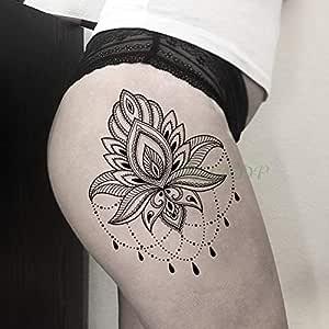tzxdbh 3Pcs-Etiqueta engomada del Tatuaje Impermeable Clave de Oro ...