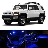 LEDpartsNOW Toyota FJ Cruiser 2008 & Up Blue Premium LED Interior Lights Package Kit (4 Pieces)