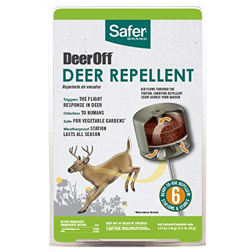 Havahart Deer - Safer Brand 5962 Waterproof Deer Repelling Stations - 6 Pack