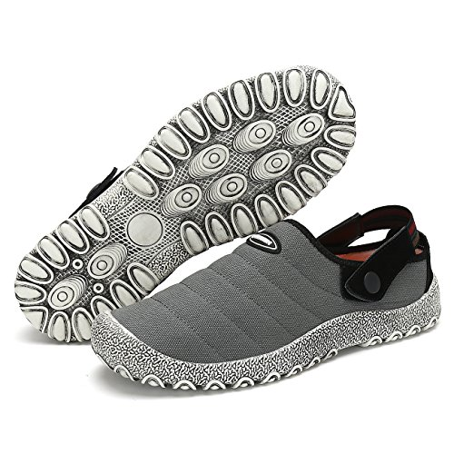 Tela Uomo Antiscivolo da Donna Traspiranti Scarpe in Casual Leaproo Pantofole Primavera Grigio Scarpe Barca Rw76tq