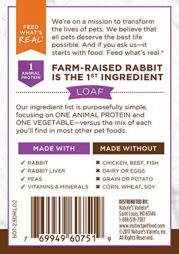 Instinct Limited Ingredient Diet Grain Free Real Rabbit Recipe Natural Wet Canned Dog Food by Nature's Variety, 13.2 oz. Cans (Pack of 6) by Instinct (Image #1)