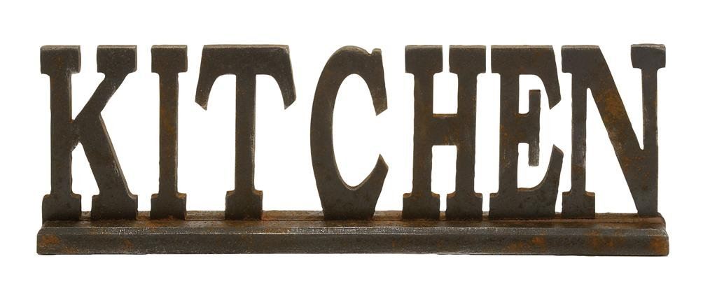 """Deco 79 97294 Wood Kitchen Sign, 24 by 8"""""""