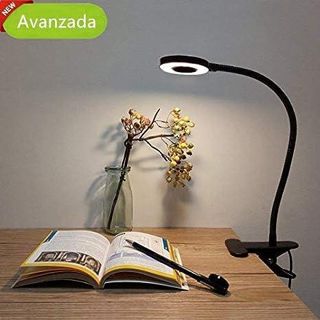 Lámpara de Mesa LED, Lypumso Luz Escritorio con Pinza de ...