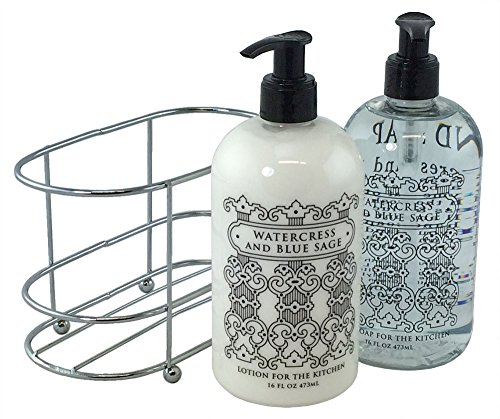 3 Pc Gift Set - Watercress and Blue Sage Duo in Caddy