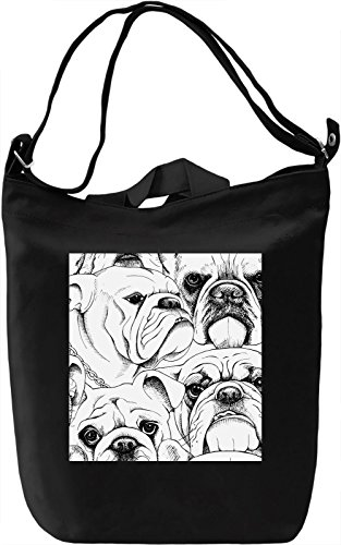 Funny Dogs print Borsa Giornaliera Canvas Canvas Day Bag| 100% Premium Cotton Canvas| DTG Printing|