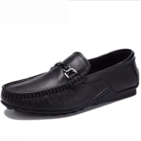 Hy Zapatos de Hombre, Mocasines y Zapatos de Cuero con Cordones, Zapatos sin Cordones