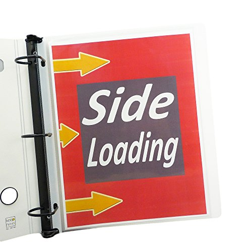 Side Load 8.5 x 11 Letter Size Sheet Protectors, Heavyweight, Glass Clear, 50 per Pack, Acid Free (Sheet Load Protector Side)