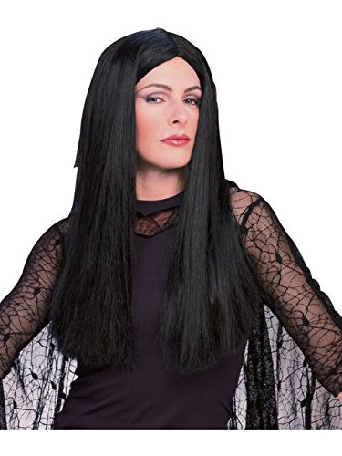 Deluxe Witch Wig - Rubie's Men's The Addams Family, Deluxe Morticia Wig, Black, One Size