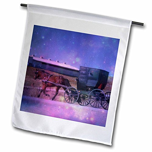 Amish Buggy Garden - Cassie Peters Amish - Amish Space by Angelandspot - 12 x 18 inch Garden Flag (fl_240313_1)