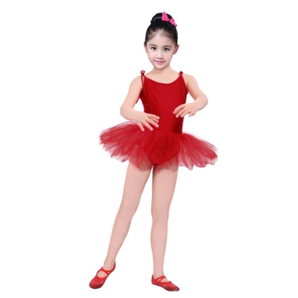 b4e7bf0b00b4 Amazon.com  GIFC Girls Ballet Dress Cute Tutu Leotard Flutter ...