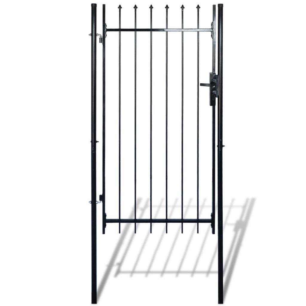 Daonanba Decorative Garden Gate Heavy Duty Door Fence Gate with Spear Top Practical Durable Barrier Single Door 39''W x 79''H