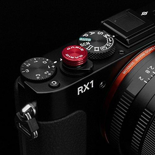 Gariz Metal XA-SBA3S Camera Screw Type Soft Button for Sony RX1, Red by Gariz