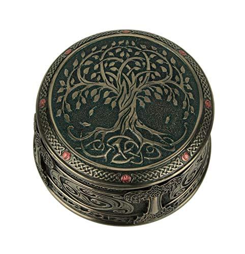Veronese Design Bronze Finish Spiritual Tree of Life Trinket Box