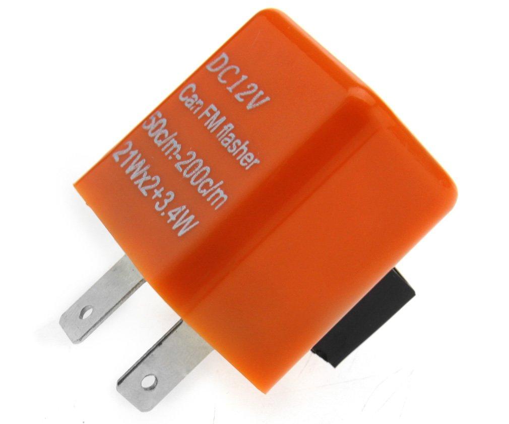 12v Speed Adjustable 2 Pin Led Flasher Relay Motorbike Turn Signal Indicator Flash Rate Resistor Motorcyle Car Uk Kitchen Home